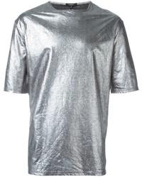 Camiseta con cuello circular plateada de Unconditional