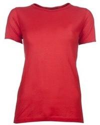Camiseta con cuello circular roja