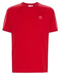 Camiseta con cuello circular roja de adidas