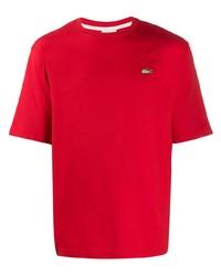 Camiseta con cuello circular roja de lacoste live