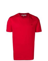 Camiseta con cuello circular roja de McQ Alexander McQueen
