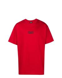 Camiseta con cuello circular roja de Represent