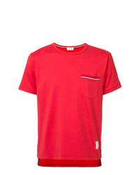 Camiseta con cuello circular roja de Thom Browne