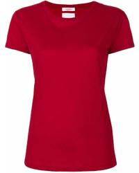 Camiseta con cuello circular roja de Valentino
