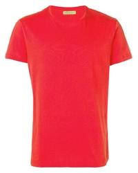Camiseta con cuello circular roja de VERSACE JEANS COUTURE