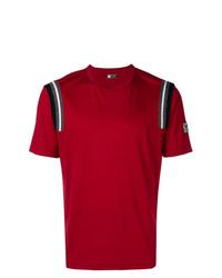 Camiseta con cuello circular roja de Z Zegna