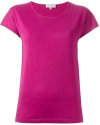 Camiseta con cuello circular rosa de Etro