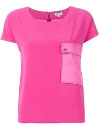 Camiseta con cuello circular rosa de Kenzo