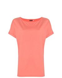 Camiseta con cuello circular rosada de Aspesi
