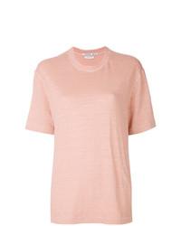 Camiseta con cuello circular rosada de Common Wild