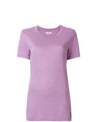 Camiseta con cuello circular rosada de Isabel Marant Etoile