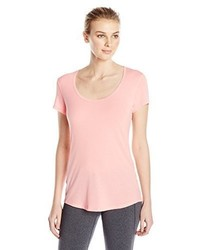 Camiseta con cuello circular rosada de Lucy