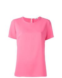 Camiseta con cuello circular rosada de P.A.R.O.S.H.