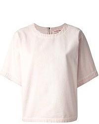 Camiseta con cuello circular rosada de See by Chloe