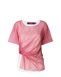 Camiseta con cuello circular rosada de Sies Marjan
