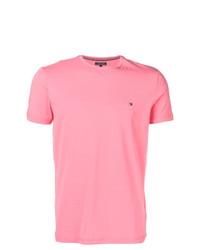 Camiseta con cuello circular rosada de Tommy Hilfiger