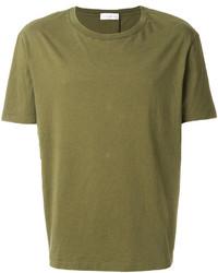 Camiseta con cuello circular verde oliva de Faith Connexion