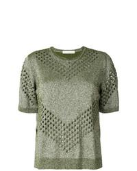 Camiseta con cuello circular verde oliva de Golden Goose Deluxe Brand