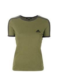 Camiseta con cuello circular verde oliva de Yeezy