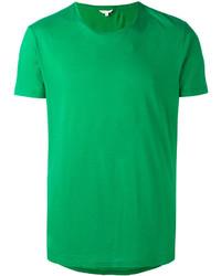 Camiseta con cuello circular verde