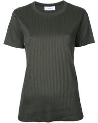 Camiseta con cuello circular verde oscuro de ASTRAET