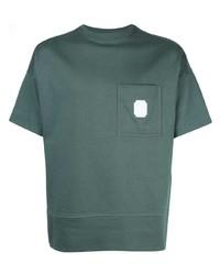 Camiseta con cuello circular verde oscuro de Cerruti 1881