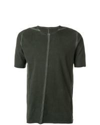 Camiseta con cuello circular verde oscuro de Isaac Sellam Experience