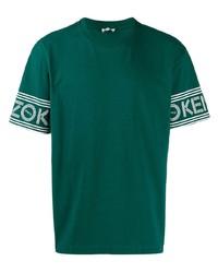 Camiseta con cuello circular verde oscuro de Kenzo