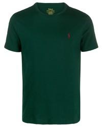 Camiseta con cuello circular verde oscuro de Polo Ralph Lauren