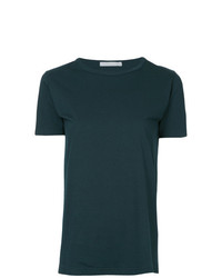 Camiseta con cuello circular verde oscuro de Roarguns