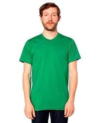 Camiseta con cuello circular verde de American Apparel