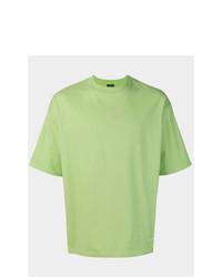Camiseta con cuello circular verde de Balenciaga