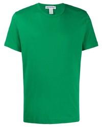 Camiseta con cuello circular verde de Comme Des Garcons SHIRT