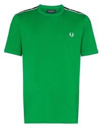 Camiseta con cuello circular verde de Fred Perry
