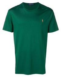 Camiseta con cuello circular verde de Polo Ralph Lauren