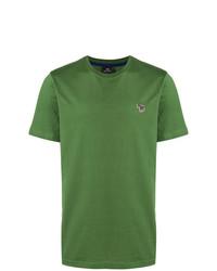 Camiseta con cuello circular verde de Ps By Paul Smith