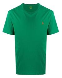 Camiseta con cuello circular verde de Ralph Lauren