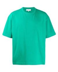 Camiseta con cuello circular verde de YMC