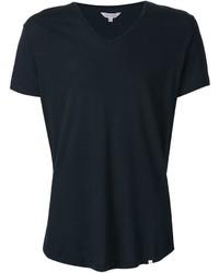 Camiseta con cuello en v azul marino de Orlebar Brown
