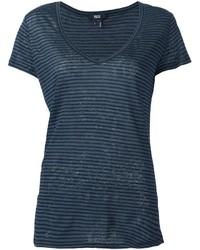 Camiseta con cuello en v azul marino de Paige