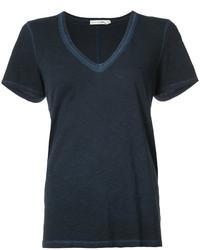 Camiseta con cuello en v azul marino de Rag & Bone