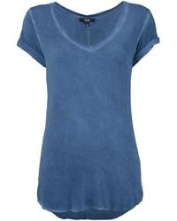 Camiseta con cuello en v azul de Paige