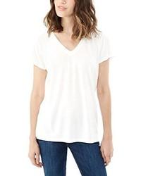 Camiseta con cuello en v blanca de Alternative