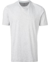 Camiseta con cuello en v blanca de Brunello Cucinelli