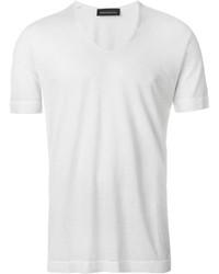 Camiseta con cuello en v blanca de Diesel Black Gold