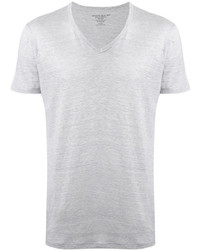Camiseta con cuello en v blanca de Majestic Filatures