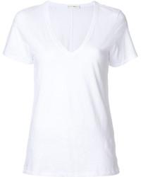 Camiseta con cuello en v blanca de Rag & Bone