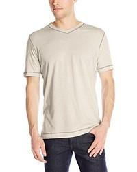 Camiseta con Cuello en V Blanca de Robert Graham