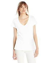 Camiseta con cuello en v blanca de Threads 4 Thought