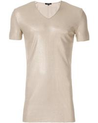 Camiseta con cuello en v dorada de Unconditional